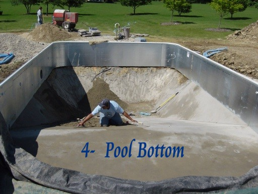 Preparing Pool Bottom