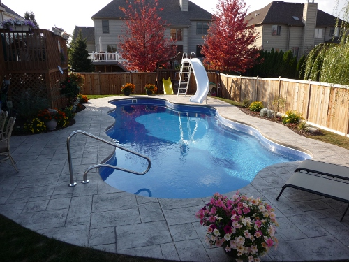 Fiberglass Swimming Pool Designs For Backyard Fun