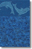Blue Dolphin Tile vinyl pool liner