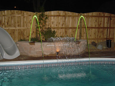 Pool Waterfall and lighted spouts Sugar Grove, IL