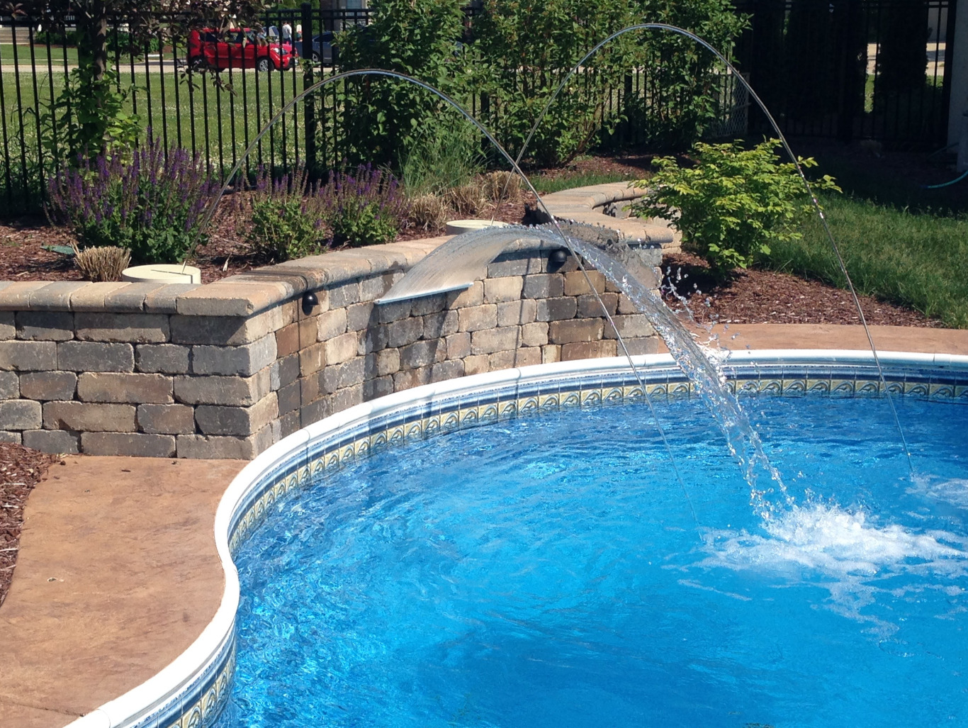 Swimming Pool Waterfalls - swimming pool water features ...