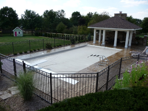 Swim Shack Custom Pool with Automatic Cover closed St. Charles, IL