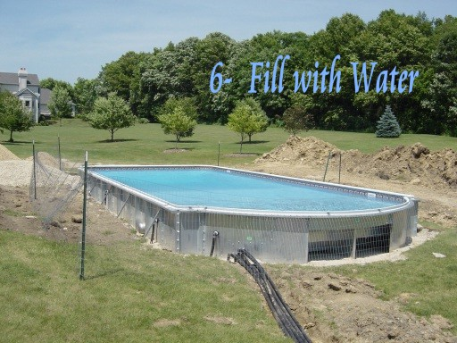 filling pool with water