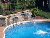 Sugar Grove pool with waterfall feature