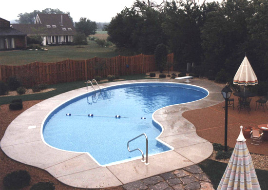 photo of kidney shaped pool Naperville, IL