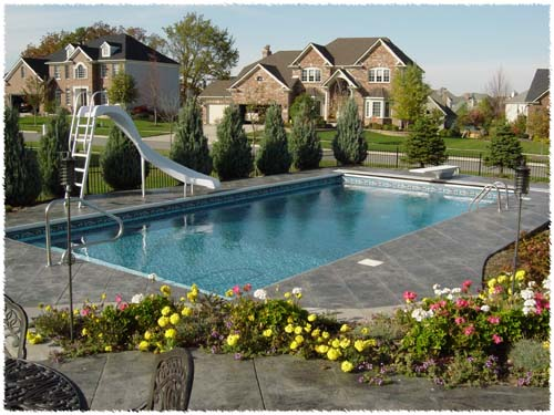 photo of  rectangular pool with slide Batavia, IL