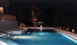 photo of pool at night Montgomery, IL