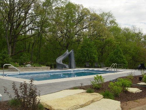 photo of Rectangular pool and slide Elburn, IL